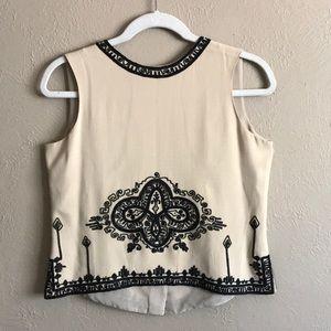 Dana Buchman Silk Embroidered Top